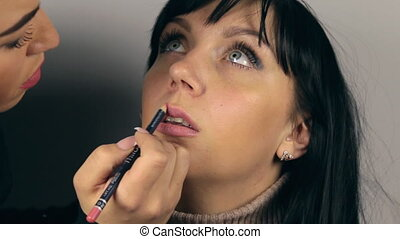 Professional face makeup for photo shooting HD