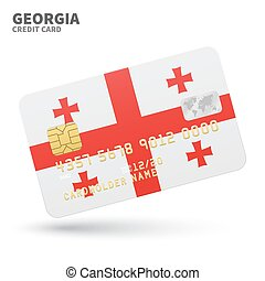 Credit card with Georgia flag background for bank,...