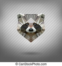 abstract triangle polygonal animal - abstract triangle...