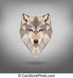 abstract triangle polygonal animal in the style of origami
