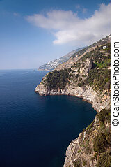 Italian Amalfi Coast - Amalfi Coast looking North across the...