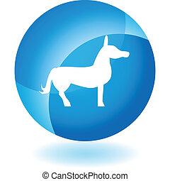 Donkey Icon Set - Donkey icon isolated on a white...
