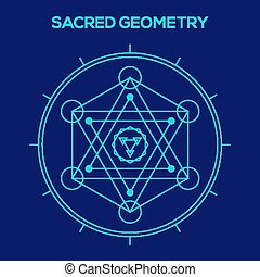 Sacred geometry. Hipster symbols and elements. Abstract...