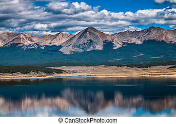 Taylor Park Colorado Grizzly Mountain Reflection in the...