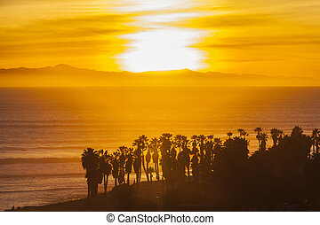 Channel Islands Sunset in Southern California - Channel...