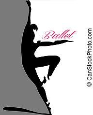 ballet dancer silhouette 4 pink let