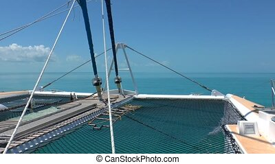 Catamaran and Caribbean Sea