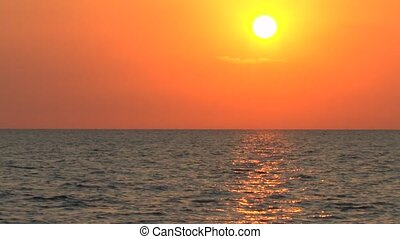 Caribbean Sea Sunset near Cayo Larg