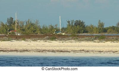 Sandy beach of Cayo Largo del Sur