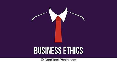 business ethics concept man in suit