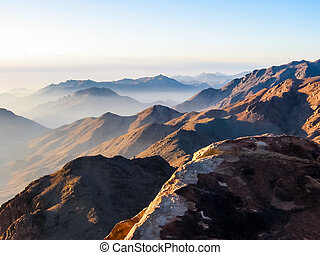 Mount Sinai Egypt - Spectacular aerial view of the holy...