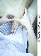療法, 物理療法, 健康診断, 患者, 手