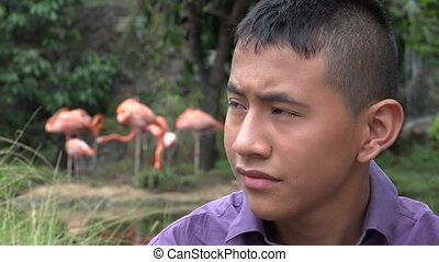 Colombian Teen Boy at Reserve - Colombian Teen Boy at Nature...