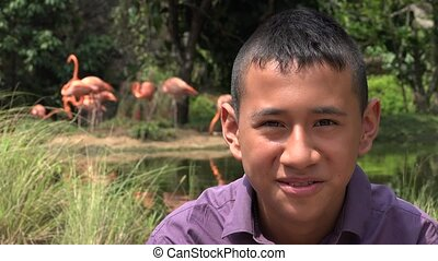 Smiling Colombian Teen Boy