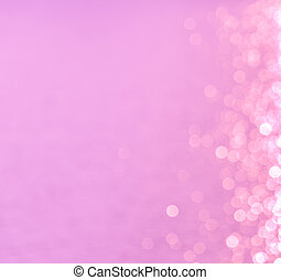 Bokeh lights abstract on pink background