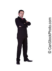 Businessman posing with his arms crossed