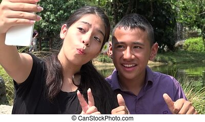 Teen Friends or Siblings Selfie - Teen Friends or Siblings...