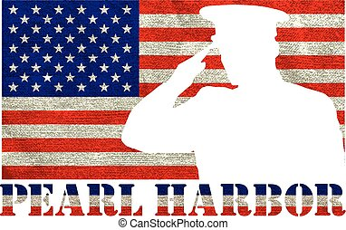 Pearl Harbor. Remembrance day. Vector illustration Patriotic...