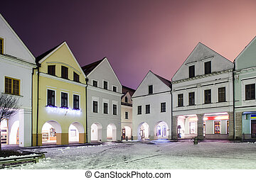 Zilina city center, Slovakia - Nice buildings at Zilina main...