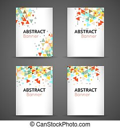 Colorful geometric abstract background set
