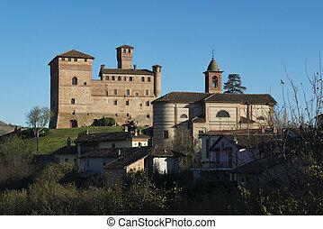 vista, de, el, castillo, de, Grinzane, Cavour, UNESCO,...