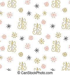 Christmas decoration pattern, seamless background, hand...