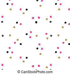 Vintage hand drawn doodle seamless pattern with black, pink...