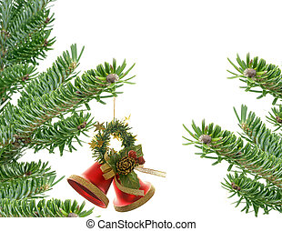 Fir tree on white