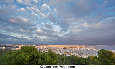Time Lapse of Palma city, Spain - Wide angle time-lapse of...