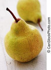 fresco, pera, fruta,