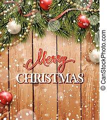 Christmas gretting card. - Christmas gretting card with fir...