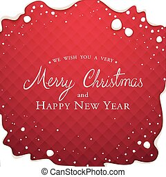 Christmas Gretting Card - Christmas gretting card on a red...