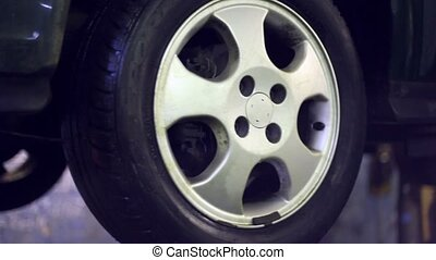 Wheel of the car