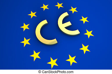 European Union Flag CE Marking Symbol - European Union and...