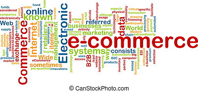 E-commerce word cloud - Word cloud concept illustration of...