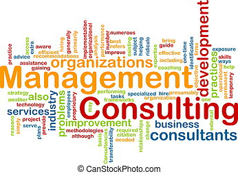 Management consulting word cloud - Word cloud concept...