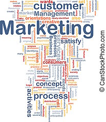 Marketing word cloud - Word cloud concept illustration of...
