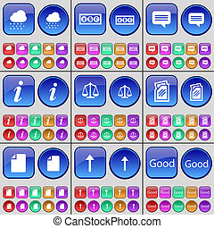Cloud, Currency, Chat bubble, Information, Scales, Folder,...