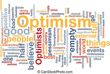 optimisme, mot, nuage
