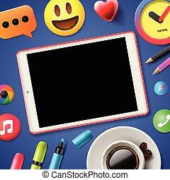 Social media connecting blog