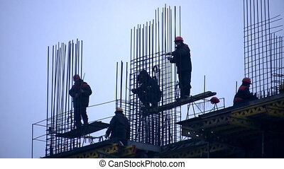 Building house and group worker