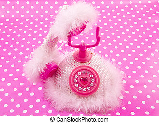 royal princess phone - Pink princess phone on a pink white...