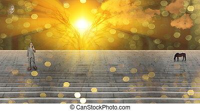Stairway Landscape