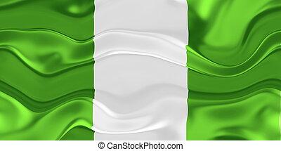 Flag of Nigeria wavy