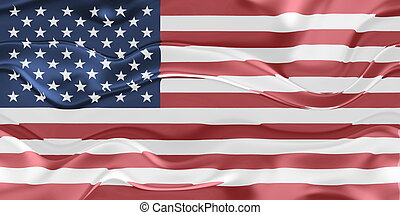 Flag of United States of America wavy