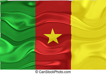 Flag of Cameroon wavy
