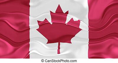 Flag of Canada wavy