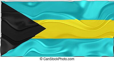 Flag of Bahamas wavy