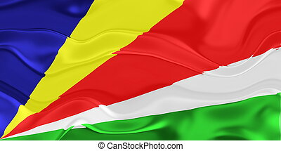 Flag of Seychelles wavy - Flag of Seychelles, national...