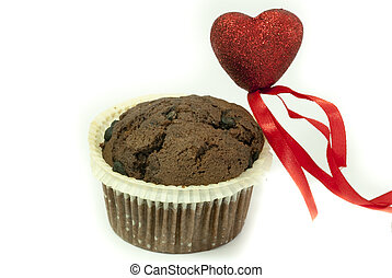 Love for Chocolate Muffin - flavoured with bits of solid...
